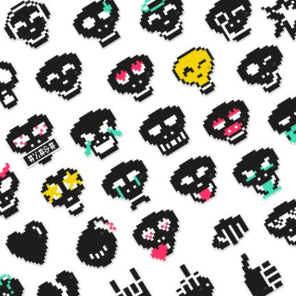 Pixkull sticker for whatsapp