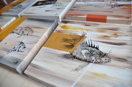 Fishes canvases